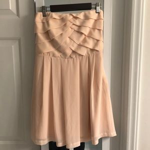Peach Strapless Dress